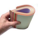 Färga pappers- Arkivfoton