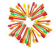 färga pennor Arkivbilder