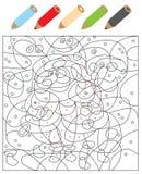 Färga pricker visuellt hjälpmedelleken vektor illustrationer