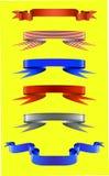 Kulöra band vektor illustrationer