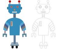 Färga roboten Arkivfoton