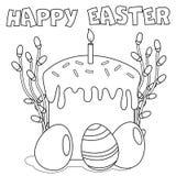 Färga sidan 'lycklig påsk ', vektor illustrationer