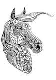 Färga sidan med hästen stock illustrationer