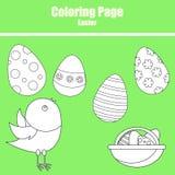 Färga sidan Påsk stock illustrationer