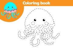 Färga sidan, utbildningslek för barn Färga sidan som drar ungeaktivitet också vektor för coreldrawillustration Arkivbild