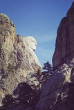 Färga signalsidosikten av George Washington på Mount Rushmore Nati Arkivfoto