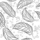 Färga som är antistress med fjädrar Royaltyfri Foto