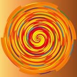 Färga spiralen på en beige bakgrund, abstraktion Arkivfoton