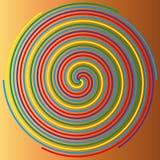 Färga spiralen på en beige bakgrund, abstraktion 1 Royaltyfri Foto