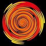 Färga spiralen på en svart bakgrund, abstraktion Fotografering för Bildbyråer