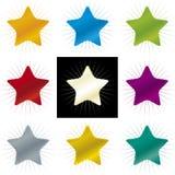 Färga stjärnor (vektorn) Arkivbild
