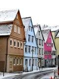 Färga tyska traditionella hus royaltyfria bilder