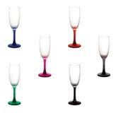 Färga wineexponeringsglas Royaltyfria Bilder