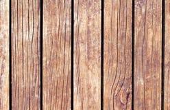 Färga wood bakgrund Brun wood textur med vertikala linjer Arkivfoton