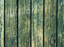 Färga wood bakgrund Grön wood textur med vertikala linjer Arkivfoto