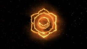 Färga yogachakrasymbolet som är stort för designen, sacral chakra royaltyfri illustrationer