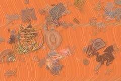 Färgabstrakt begreppmodell, generativa blandade smutsiga former, konstbakgrund Illustration idérikt, bakgrund & effekt stock illustrationer