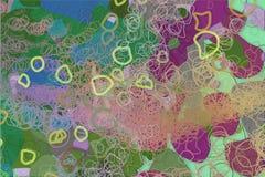 Färgabstrakt begreppmodell, generativa blandade smutsiga former, konstbakgrund Kanfas, illustration, mall & diagram Royaltyfri Fotografi