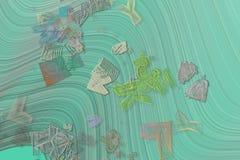 Färgabstrakt begreppmodell, generativa blandade smutsiga former, konstbakgrund Repetition, bakgrund, diagram & teckning royaltyfri illustrationer