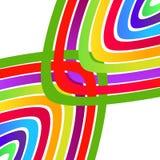 Färgabstrakt begreppvågor Arkivbild