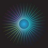 färgad abstrakt bakgrund cirklar av glödande PIXEL Royaltyfri Bild
