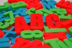 färgad alfabetbakgrund Royaltyfri Fotografi