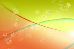 Färgad bakgrund med cirklar och band Royaltyfri Foto