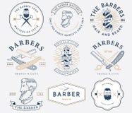 Färgad barberarestil Royaltyfri Bild