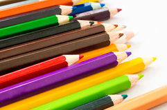 färgad blyertspenna Royaltyfria Foton