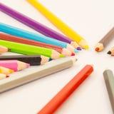 färgad blyertspenna Arkivfoto