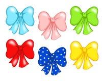 färgad bow Fotografering för Bildbyråer