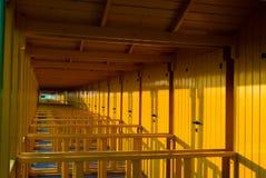 färgad cabina Fotografering för Bildbyråer