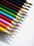 färgad crayon royaltyfri fotografi