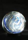 färgad crystal lampa för boll Arkivbilder