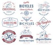 Färgad cykelbyggmästareuppsättning 1 Arkivbild