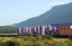 Färgad fabrik Royaltyfria Foton