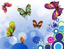 färgad fjäril Royaltyfri Illustrationer