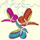Färgad fjärilsvektorillustration eps10 Fotografering för Bildbyråer