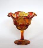 Färgad glass piala, isolerad kremanki Royaltyfria Bilder