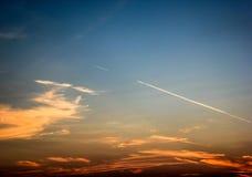 Färgad himmel av Dubrovnik fotografering för bildbyråer