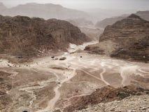 Färgad kanjon i Egypten Royaltyfri Foto