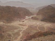 Färgad kanjon i Egypten Royaltyfri Fotografi