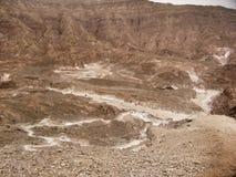 Färgad kanjon i Egypten Arkivbilder
