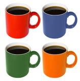 färgad kopp för kaffe Fotografering för Bildbyråer