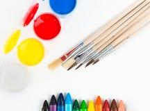 Färgad målning och vattenfärger Royaltyfri Fotografi