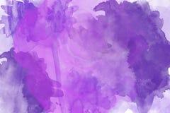 färgad mång- fläckakvarell för abstrakt begrepp Royaltyfri Bild