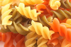 färgad macaroni Royaltyfri Fotografi
