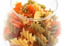 färgad macaroni Arkivbilder