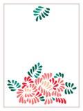 Färgad pastell stiliserade blomma- och sidabuketten, vektor Royaltyfri Bild