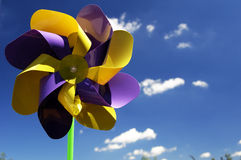 färgad pinweel Arkivfoton
